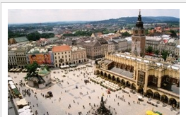 Krakow, Poland from above